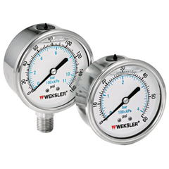 ORS006-BY42YPT4LW - WekslerLiquid Filled All Stainless Steel Gauges