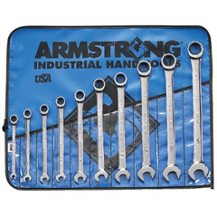 ARM069-25-667 - Armstrong Tools10 Piece Fractional Geared Combination Wrench Set (Roll)