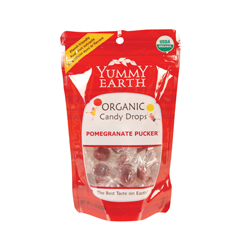 BFG28728 - Yummy EarthPomegranate Pucker Candy Drops, Stand Up Pouch