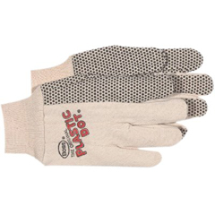 BSS121-1BP5501 - BossPlastic Dotted Cotton Gloves - Large