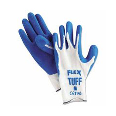 MMG127-9680M - Memphis GloveFlex-Tuff 10 Gage Blue Latex Coated Palm Gloves, Medium