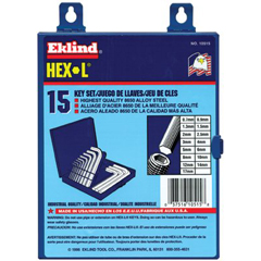 EKT269-10515 - Eklind ToolHex-L® Key Sets