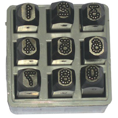 CHH337-26641 - C.H. HansonLow Stress Dot Design Steel Hand Stamp Sets
