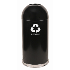 WIT415DTBK-R - Witt IndustriesOpen Top Dome-Top Recycling Container