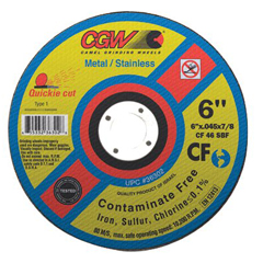 CGW421-36302 - CGW AbrasivesQuickie Cut™ Contaminate Free Cut-Off Wheels