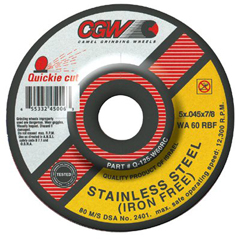 CGW421-45002 - CGW AbrasivesQuickie Cut™ Extra Thin Cut-Off Wheels, Type 27