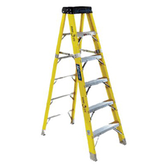 ORS443-FS1104HD - Louisville LadderFS1100HD Series Rhino 375™ Fiberglass Step Ladders