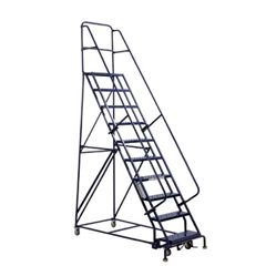 ORS443-GSW2410 - Louisville LadderGSW Series Steel Rolling Warehouse Ladder w/ Handrails