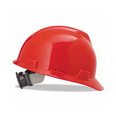 ORS454-475363 - MSARed V-Gard Slotted Hard Hat