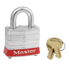 MST470-3RED - Master LockSteel Body Safety Padlocks