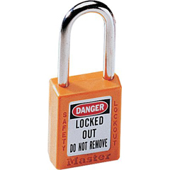 MST470-410ORJ - Master LockNo. 410 & 411 Lightweight Xenoy Safety Lockout Padlocks