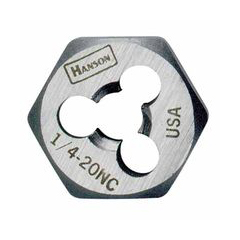 IRW585-7258 - IrwinHigh Carbon Steel Re-Threading Fractional Hexagon Dies