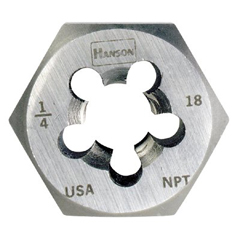 IRW585-7404 - IrwinHigh Carbon Steel Re-Threading Hexagon Taper Pipe Dies