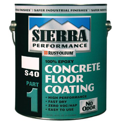 ORS647-208066 - Rust-OleumSierra Performance™ S40 Concrete Epoxy Floor Coatings Gloss Clear