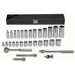 WRT875-339 - Wright Tool31 Piece Standard & Deep Socket Sets
