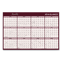 AAGA152 - AT-A-GLANCE® Reversible Horizontal Erasable Wall Planner