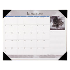 AAGDMD16200 - AT-A-GLANCE® Recycled Black-and-White Desk Pad, Black and White