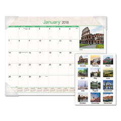 AAGDMD16932 - AT-A-GLANCE® European Destinations Desk Pad Calendar
