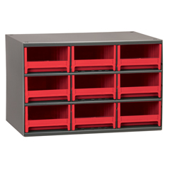 AKR19909RED - Akro-Mils9-Drawer Storage Hardware and Craft Organizer