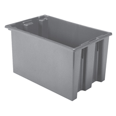 AKR35300GREYCS - Akro-Mils29.5 inch Nest & Stack Totes