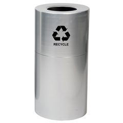 WITAL35-CLR-R - Witt IndustriesDecorative Aluminum Series Large Recycling Receptacle