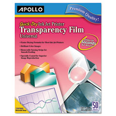 APOCG7031S - Apollo® Inkjet Printer Transparency Film