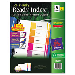 AVE11080 - Avery® EcoFriendly Ready Index® Table of Contents Dividers