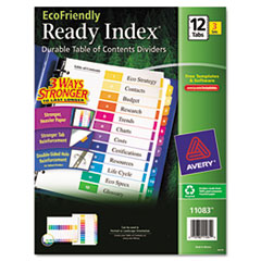 AVE11083 - Avery® EcoFriendly Ready Index® Table of Contents Dividers