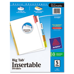 AVE11121 - Avery® WorkSaver® Big Tab™ Insertable Dividers
