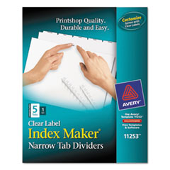 AVE11253 - Avery® Index Maker® Label Dividers with Narrow Tabs