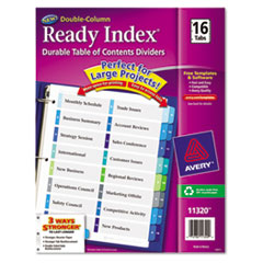 AVE11320 - Avery® Ready Index® Double-Column Table of Contents Dividers