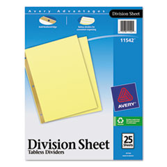 AVE11542 - Avery® Untabbed Sheet Dividers