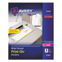 AVE11567 - Avery® Print-On™ Dividers
