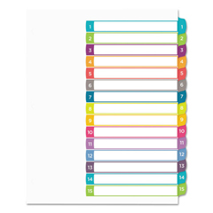 AVE11845 - Avery® Ready Index® Customizable Table of Contents Multicolor Dividers