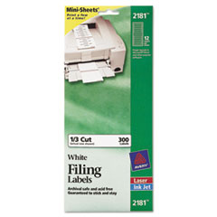 AVE2181 - Avery® File Folder Labels on Mini-Sheets®