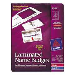 AVE5362 - Avery® Laminated Clip Style Name Badges