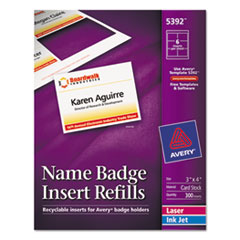 AVE5392 - Avery® Name Badge Inserts