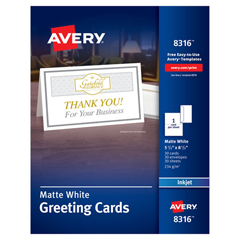 AVE8316 - Avery® Half-Fold Greeting Cards with Envelopes