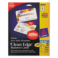 AVE88220 - Avery® 2-Side Printable Clean Edge® Rounded Corner Business Cards