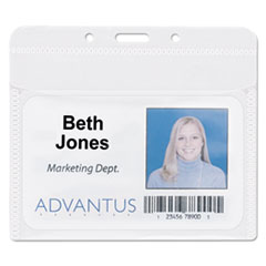AVT75603 - Advantus® PVC-Free Badge Holders