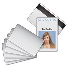 AVT76354 - Advantus® Blank PVC ID Badge Card with Magnetic Strip