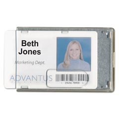 AVT76416 - Advantus® Rigid Two-Badge Blocking Smart Card Holder