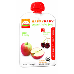 BFG01640 - Happy BabyApple & Cherry Pouch 6+ Months