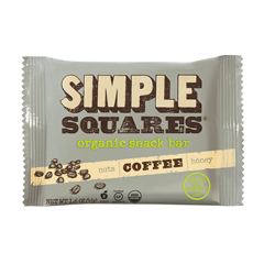 BFG35446 - Simple SquaresOrganic Snack Bar - Coffee, Honey & Nuts