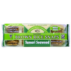 BFG36163 - Edward & SonsBrown Rice Snap Tamari Seaweed Crackers