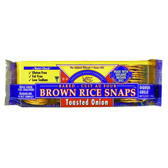 BFG36182 - Edward & SonsBrown Rice Snaps Toasted Onion Crackers