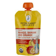 BFG51769 - Peter Rabbit OrganicsMango Banana & Orange Fruit Snack Pouch