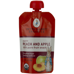 BFG52023 - Peter Rabbit OrganicsPeach & Apple Fruit Snack Pouch