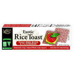 BFG62044 - Edward & SonsExotic Rice Toast Thai Red Rice & Flaxseed Crackers