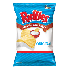 BFVFRI44363 - Frito-LayRuffles Regular Chips Large Single Serve